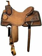 Scott Thomas 15.5andrdquo Ranch Cutter Wide Tree Antiqued Black Borders Rc800 New