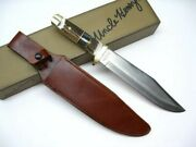 Schrade 184stuh Uncle Henry Stag Straight 15 Fixed Blade Bowie Knife + Sheath