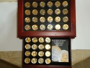 40 Sacagawea Us 1 Dollar Coins Enhanced 24k Gold And Platinum In Hinged Case
