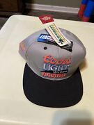 Coors Light The Silver Bullet Vintage Snapback Trucker Style Hat Kyle Petty
