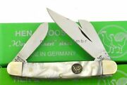 Hen And Rooster Stockman 3 1/4 German Steel Cracked Ice Celluloid Knife Germany