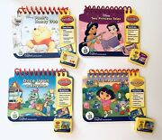 Leap Frog My First Leap Pad Lot Of 4 Flip Books And 4 Cartridges Preschool