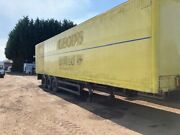 Triaxle Box Trailer Fruehauf 1995 Drum Brakes Full Chassis Dry Secure Exportload