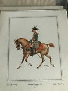 Vintage Water Colour Print Soldier On Horseback - Early Modern Wurttemberg