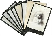 Victorian Cabinet Cards Photos Same Beautiful Girl Child Eastbourne And Usa Lot X8