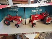 Ertl Mccormick Farmall Ih 130 And 230 Tractors 1/16 Scale Wide Front 50th Annivery