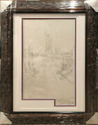 Melanie Taylor Kent Original Signed Drawing Sketch Statue Of Liberty Painting