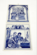 Vintage Delft Pharmacy 2 Tiles Burroughs Wellcome Co Limited Edition
