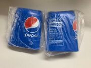 Two Hide A Beer Can Covers Silicone Beer Can Covers Pepsi Blue Sleeve  A2