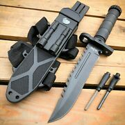 12.5 Military Hunting Tactical Fixed Blade Survival Army Knife W Fire Starter