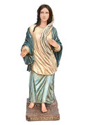 Statue Maria Of Nazareth Cm 120 In Fibreglass With Eyes Of Glass Made In Italy