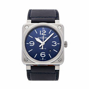 Bell And Ross Br 03-92 Blue Steel Auto 42mm Mens Watch Strap Br0392-blu-st/sca