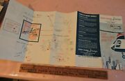 Early 1962 New York Airways Nyc Helicopter Foldout Schedule Brochure Aviation