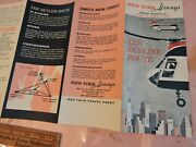 March 1966 New York Airways Nyc Helicopter Foldout Schedule Brochure Aviation