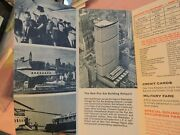 October 1966 New York Airways Nyc Helicopter Foldout Schedule Brochure Aviation