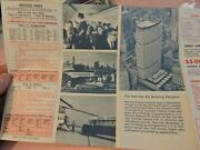 Early 1967 New York Airways Nyc Helicopter Foldout Schedule Brochure Aviation