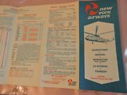 1972 New York Airways Nyc Helicopter Foldout Schedule Brochure Aviation