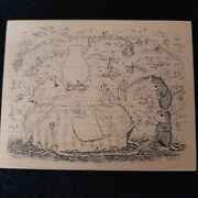 Nos 2000 House Mouse Tickle Phil 478 M Stampa Rosa Rubber Stamp Rare Maxwell