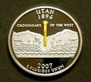 Very Rare Silver Medal For The First Strike Ceremony Of The Utah State Quarter