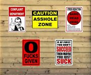 Wholesale Lot Funny Joke Novelty Signs 8 X 12 Rust Proof Qty 25 Metal Signs