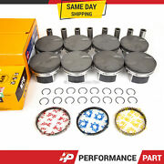 Pistons W/ Rings Fits 07-09 Chevy Gm Hummer Cadillac 6.2l Lc9 Lh6 Lmg Ly5