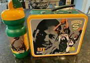 Vintage Seattle Supersonics Sonics Metal Lunchbox And Bottle Sga Ray Allen Lewis
