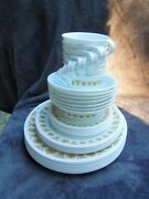 Vintage 39 Pc Corelle Corning Pyrex Butterfly Gold Dinnerware Set Vg To Mint