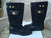 Coach Black Boots Size 7 1/2 Excellent Condition Guaranteed Authentic