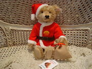 Steiff Exclusive Santa Bear Limited Edition For German Toy Store Christmas New