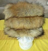 1980's Vintage Women's Real Red Fox Tail Fur Hat