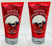 Clearance Blowout Sale Set Of 2 Winter Candy Apple Whipped Confetti Body Scrub