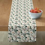 Table Runner Flower Floral Baby Neutral Soft Pastel Cotton Sateen