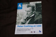 Peter Cushing At 100 Flyer Whitstable Museum Exhibition Rare I Monster Amicus