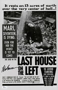 Wes Craven Signed Last House On The Left 11x17 Movie Poster Jsa Coa N71930