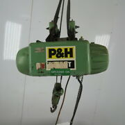 Pandh 1/4 Ton Wire Rope Electric Hoist 15and039 Lift 28 Fpm 208-230/460v 3ph W/trolley