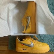 Nike Off White Air Force 1 University Gold Yellow Lemonade Size 13 In Hand