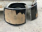 Nos Airstream Front Corner Window Stone/rock Guards - Pair Years 83-up