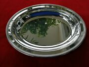 Perles Christofle Dish Plate Large Tray Bowl Silver Plated Louis Xvi French