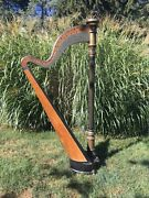 Rare Antique Tony Biehl Full Size Harp Late 19th Early 20th C. Stunning Restore