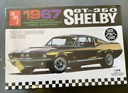 Amt 1967 Shelby Gt-350 Model Race Car Kit Plastic 125 Scale Mustang Amt834 New