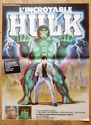 Incredible Hulk Marvel Bixby Original Small French Movie Poster '78 Rolled