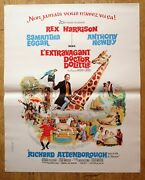 Doctor Dolittle Rex Harrison Original Small French Movie Poster And03967 Rolled