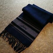 Nwt Brioni 100 Cashmere Scarf Stole Navy