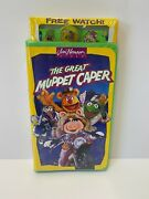 The Great Muppet Caper Vhs 1993 Sealed New Bonus Muppet Watch