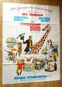 Doctor Dolittle Rex Harrison Original Large French Movie Poster And03967