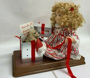 Telco Motionette Girl With Puppy Christmas Surprise Animated