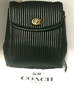 Coach Parker Convertible Backpack With Quilting In Black Used 171288-1