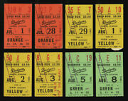 1962 Los Angeles Dodgers 8 Different Full Ticket Stubs Don Drysdale And Key Games