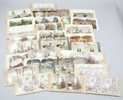 Antique Color Views Antique Stereograph Stereo Viewer Cards Lot Of 29 Barber Etc