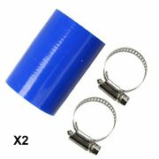 Fit 87-06 Yamaha Banshee Factory Dg Fmf Toomey Pc Exhaust Pipe Clamps Blue